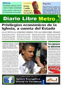 El diseño moderno y agil de la version ¨Metro¨ del Diario Libre