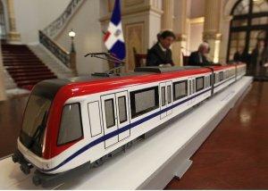 Maqueta en tamaño grande del Metro construido por la compañia ALSTON
