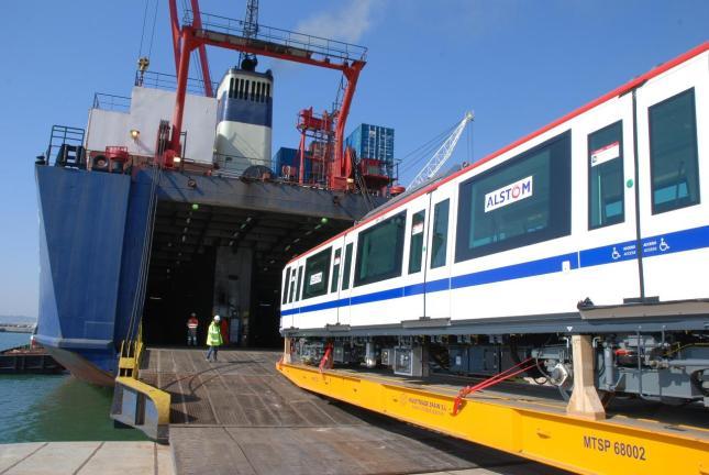 Image result for Primeros seis vagones para segunda línea del Metro de Santo Domingo