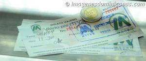 Ticket o Boleto Viajero de valor de 20 pesos, valido por un viaje.
