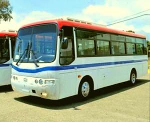 Los autobuses pudieran ser usados por la Omsa