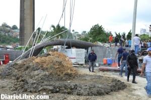 La estructura de varillas que cayó, fue retirada hace algunos días por completo varilla por varilla.